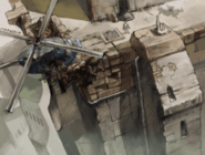 Roma outskirts rooftop concept art