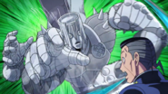 Fake Hand attacks Okuyasu