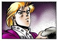 Dio holding the Stone Mask Chap 3