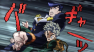 Josuke forced to hit Koichi