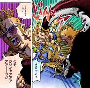 Angrily punching Norisuke