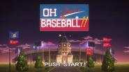 Baseball Title screen in anime