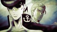 Josuke and Kira pass each other