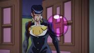Josuke tries to escape bubble