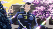 Okuyasu greets Josuke