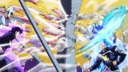 Josuke and Okuyasu punch Superfly