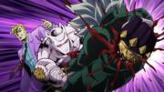 Kira punches through Koichi.png