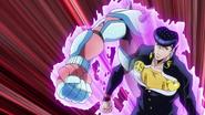 Josuke attacks Jotaro