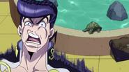 Josuke turtle scared