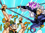 Toyohiro holding onto Mikitaka