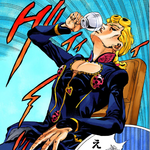 Giorno drinking Abba Tea.png