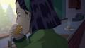 Tomoko eating