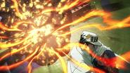 Jotaro protects Koichi from SHA