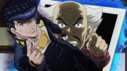 Josuke threatens Yoshihiro