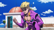 Giorno inspecting blood