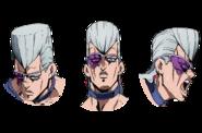 Polnareff faces