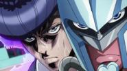 Josuke and CD fight Kira