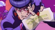 Josuke tears the check