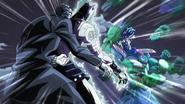 Kira pummeled by Jotaro