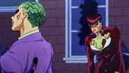 Josuke and Kira stand off