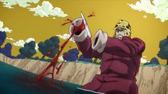 Joseph cutting himself
