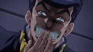 Josuke laughing at his scheme