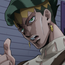 Rohan threatens Josuke.png