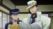 Jotaro and Josuke find Kira's ledger