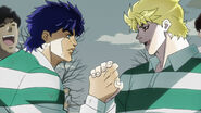 Dio and Jojo playing with one team