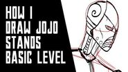 How I Draw Stands in Jojo's Bizarre Advantures ( Humanoid , Non-Humanoid and Robotic ) Basic Level