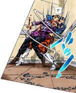 Mista using Scolippi as a shield