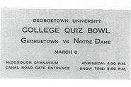 College Bowl (1959 0308 ticket)