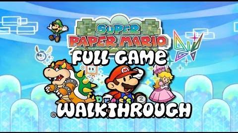 Super Paper Mario - FULL GAME - Walkthrough - No Commentary
