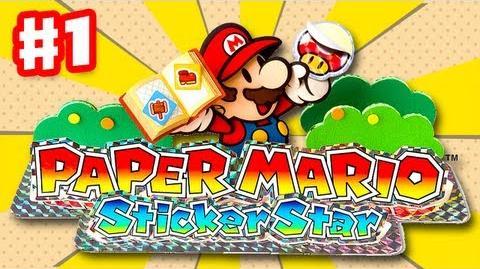 Paper Mario Sticker Star - Gameplay Walkthrough Part 1 - Decalburg Intro (Nintendo 3DS)