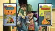 Oingo y Boingo cartas tarot-anime