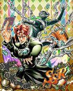 JJBASS Kakyoin-HierophantGreen-emeralds