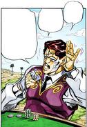 D'Arby dudando de Jotaro