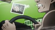 Yoshihiro hitting a windshield