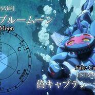 Dark blue moon