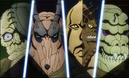 Page, Jones, Plant y Bornnam Anime
