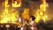 Rohan's house on fire