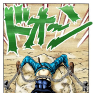 ZZ chained to a rock