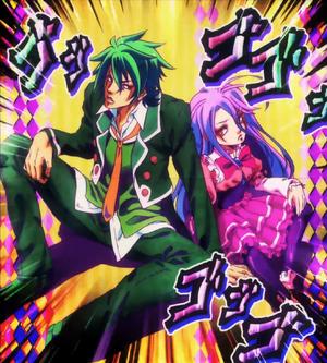 NoGameNoLife-Shiro-Sora-refuse-Rohan-pose