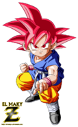 Kid goku gt super saiyan god by el maky z-d9evl9g