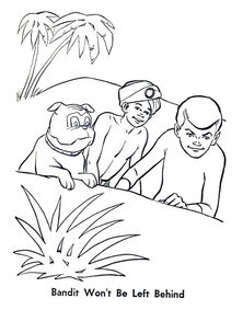 Whitman 1965 coloring book sample 1