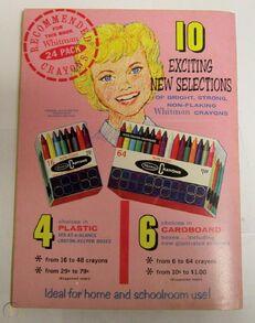 Jonny Quest Whitman 1965 coloring book back
