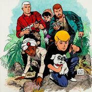 Quest Team drawn by Doug Wildey c1986