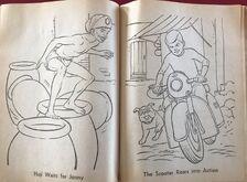 Whitman 1965 coloring book sample 16