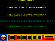 Doctor Zin's Underworld Amstrad CPC copyright screen