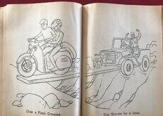 Whitman 1965 coloring book sample 17